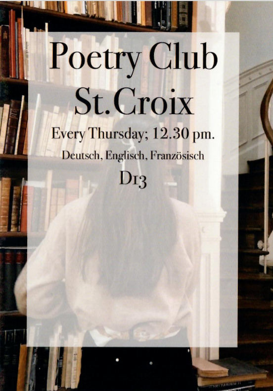 poetry club flyer
